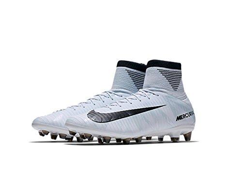 Nike Mercurial Veloce III Dynamic Fit CR7AG-PRO Pavimento Duro 42Stivale da Adulto Calcio–Scarpe da Calcio, Pavimento Duro, Adulto, Uomo, Suola con tasselli, Nero, Blu, Bianco, Monótono