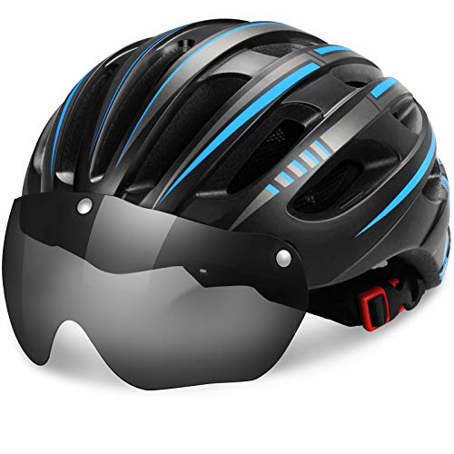 Bovon Bike Helmet CPSC Certified Ultralight Specialized Bicycle Helmet with Detachable Goggles amp Breathable 27Vents amp USB LED Rear Light Adjustable Size 5761cm for Adults/Youth
