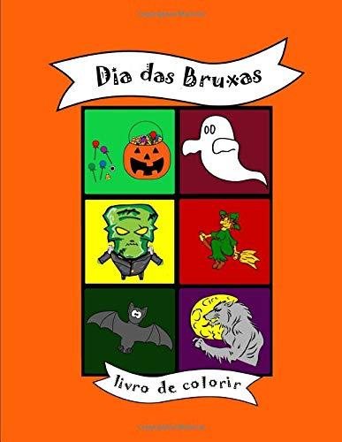 Livro de colorir: Dia das Bruxas, para bebês e crianças, criancinha, pré-escolar, escolinha, jardim de infância, formas fáceis e simples, presente, ... Halloween, abóbora, gostosuras ou travessuras