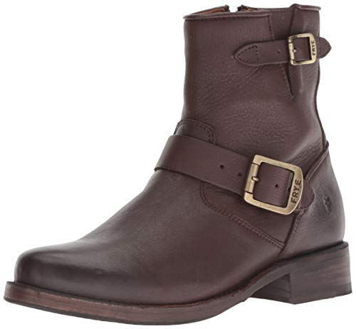 Frye Vicky Leather Bootie, 7.5 Dark Brown