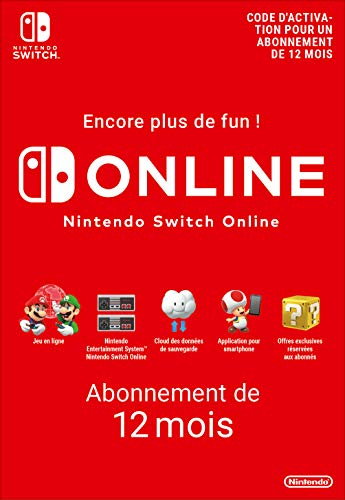 Abonnement Nintendo Switch Online - 12 Mois | Nintendo Switch - Version digitale/code | Code jeu à télécharger