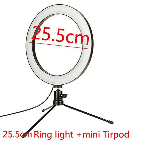 QWERTOUY LED ringlicht camera fotografie ringlamp studio ringlicht voor YouTube make-up telefoon selfie met statief telefoonhouder clip 4