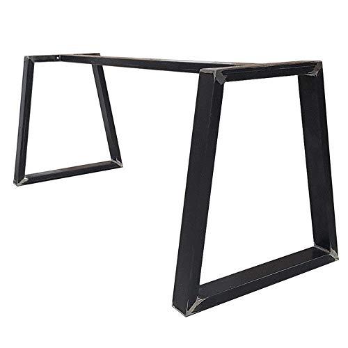 2x Patas para mesa de hierro, a medida, hogar, sala, oficina, escritorio TRB8040
