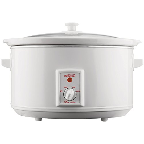 Brentwood Slow Cooker, 8 Quart, White