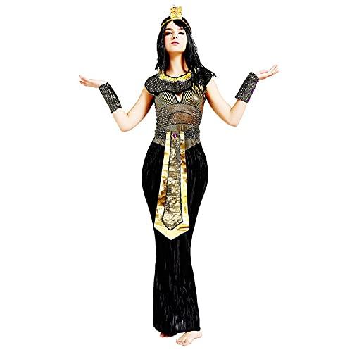 SnowDream Traje de faraón de Rey y Reina egipcia, Disfraces de Pareja para Halloween, Traje de faraón Egipcio Adulto, Traje de Cosplay, para Mujeres y Hombres,Womane