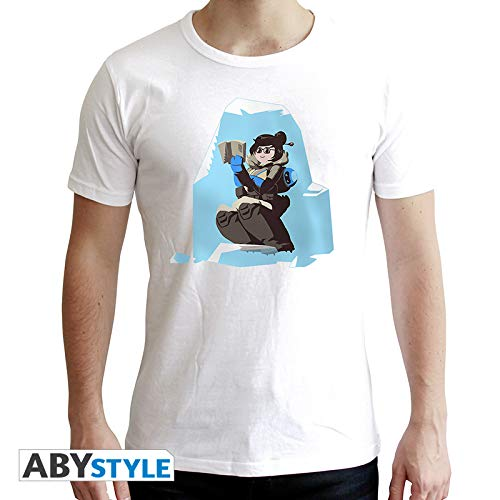ABYstyle – Overwatch – Camiseta – Mei – Hombres – Blanco (XXL)