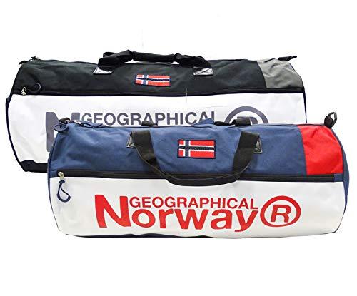 Geographical Norway Borsone Strawberry 65x30x30 cm Palestra e Viaggio Uomo-Donna WR566ACC/GN (Nero)