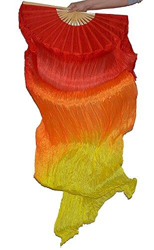 Tanzbekleidung & Accessories Schleierfächer Tanz Fächer Fächerschleier Seidenfächer Flügel Bauchtanz 1 Paar Flamme