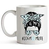 YouNique Designs - Taza de perro para mamá, 11 oz, taza para amante de perros, taza de café para perros y mamá, taza para perro y mamá, taza de café para amantes de perros (blanco)