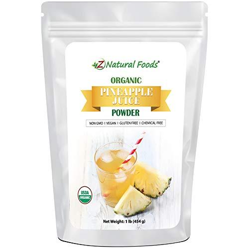 Organic Pineapple Juice Powder - Tropical Fruit Superfood Drink Mix Supplement - Mix in Smoothies, Shakes, Tea, Cooking & Baking Recipes - Non GMO, Gluten Free, Vegan, Kosher - 1 lb