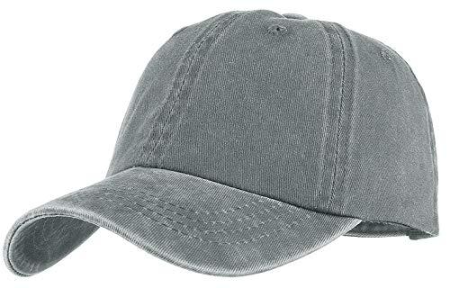 GEMVIE Baby Baseballcap Hip-Hop Cap einstellbar Bauwolle Baseball Kappe Denim Snapback Hut Hellgrau