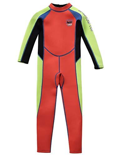 Gogokids Muta Termica per Bambina Bambini - Ragazze Ragazzi Muta da Sub Intero 2.5mm Neoprene per Surf Diving Snorkeling Nuotare UV 50+ Protezione Solare