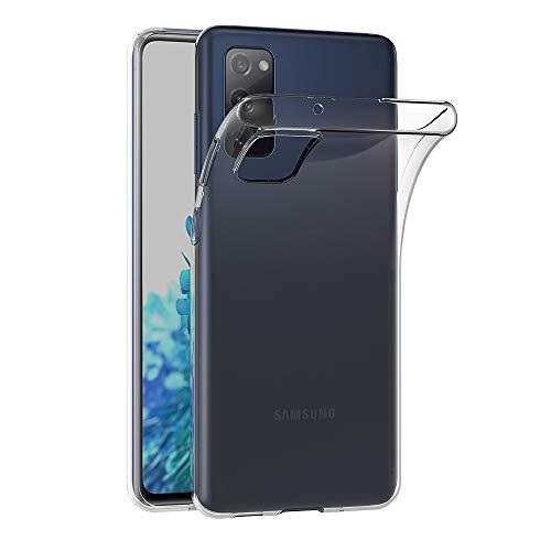 AICEK Cover Compatible Samsung Galaxy S20 Fe 5G / S20 Fan Edition / S20 Lite, Cover Samsung S20 Fan Edition Silicone Case Molle di TPU Trasparente Sottile Custodia per Galaxy S20 Lite (6.5 Pollici)