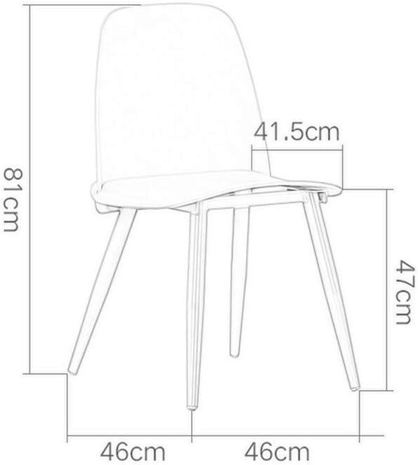 Contre Tabourets, Fauteuil Dossier En Plastique Minimaliste Moderne Chaise de Salon Adulte Créative Mode Lounge Lounge Chaise Café Chaise Maquillage (Couleur : Noir) Rose