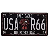 USA R66 Vintage Nummernschilder Digital Metal Sign Blechschild Blechschild für Pubs, Bars, Shops