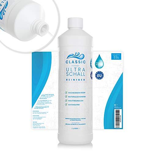 Ultraschallreiniger Konzentrat 1000ml inkl. Flaschenausgießer für jedes Ultraschallgerät – Ultraschall Reiniger für Brillen (1 Liter Classic)