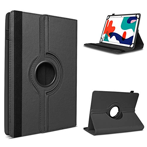 UC-Express Tablet Hülle kompatibel für Huawei MatePad T10 / T10s Tasche Schutzhülle Schutz Cover 360 Drehbar Universal Case, Farbe:Schwarz