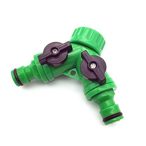 ZXBF 2pcs Conector Y Puede Volver a sellar la Cinta de Anclaje rápido de Goteo Adaptador del Sistema de irrigación de 2 vías Válvula Jardín Irrigación G3 / 4' Piezas y Conectores (Color : 3/4'')