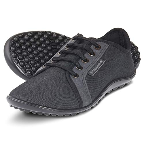 leguano Denim Graphit - Legerer Barfußschuh für City & Co (39, Graphit)