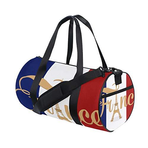 ZOMOY Sporttasche,Beten Sie Zusammenfassung Paris am 13. November 2015,Neue Druckzylinder Sporttasche Fitness Taschen Reisetasche Gepäck Leinwand Handtasche