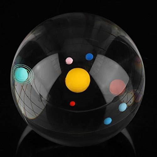 Stool Transparentes Sonnensystem Kristallkugel 3.15'Cosmic Galaxy Moon Modell 3D Gravierte Mini Glaskugel Globe Kristalllicht Kristall Handwerk Für Home Office Dekoration Ornament,Solar System