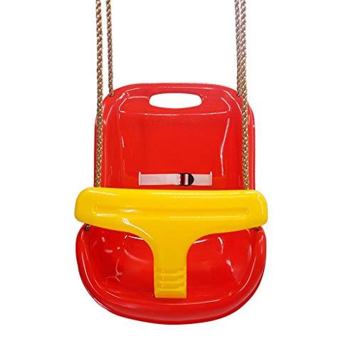 WH-Qiuqian Balançoire Suspendue 3 en 1 pour balançoire pour Enfant en Bas âge pour balançoire de Terrain de Jeu, Chaise d'extérieur Amovible pour Enfants en Bas âge pour Enfants A++