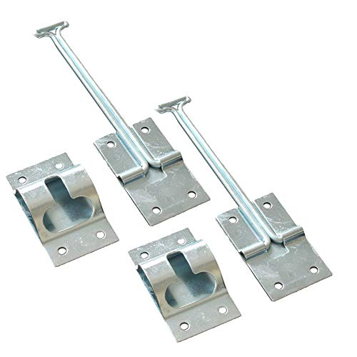 X-Haibei 2 Set 6 Inches T Style Entry Door Latch Catch Holder Stainless Steel for RV Camper Trailer Cargo