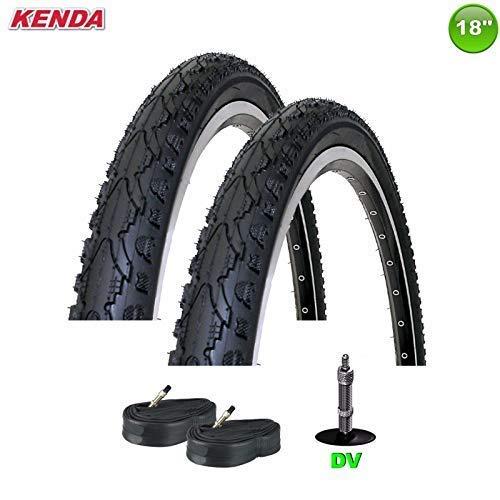 2 x Kenda K-935 Fahrrad Decke Reifen mit DV Schläuche schwarz 18 x 1.75-47-355