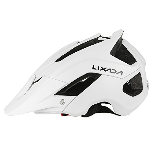 Lixada Mountain Bike Helmet Cycling Bicycle Helmet Sports Safety Protective Helmet 13 Vents Comfortable Lightweight Breathable Helmet for Child/Adult Men/Women (White)