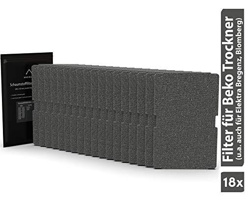 18er-Set Beko Trockner Filter 2964840100 I u.a. auch Elektra Bregenz, Blomberg, Grundig Trockner Filter I 240x155mm Filter für Trockner I Filterschwamm, Wärmepumpentrockner von ANDRADO