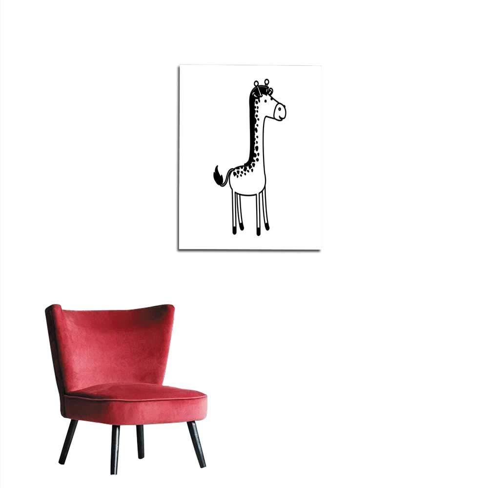 Amazon Longbuyer 写真 壁紙 キリン 漫画 黒 水玉 シルエット 壁画 16インチxインチ X28 ウォールステッカー オンライン通販