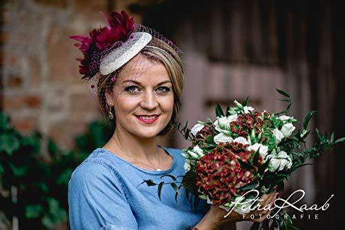 M56 Fascinator Headpieces mini Hütchen Royal hat Hut Ballhut Victoria Derby Kentucky Derby couture Millinery Hochzeit