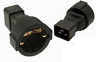 Tekit IEC320 C20 Male to EU Germany Schuko Female Socket Power Adapter Travel Converter,IEC320 C20 to Europe EU standard F...