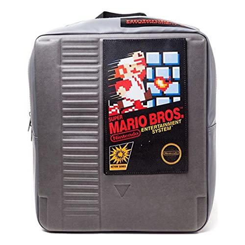 Bioworld Nintendo Nes Cartridge - Zaino 3D, colore: Grigio, 34 cm