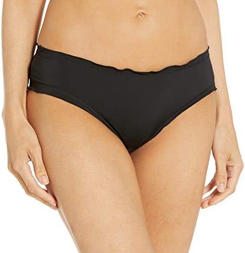Hobie Junior s Ruffled Solid Hipster Bikini Bottom Swimsuit Black X Large product image