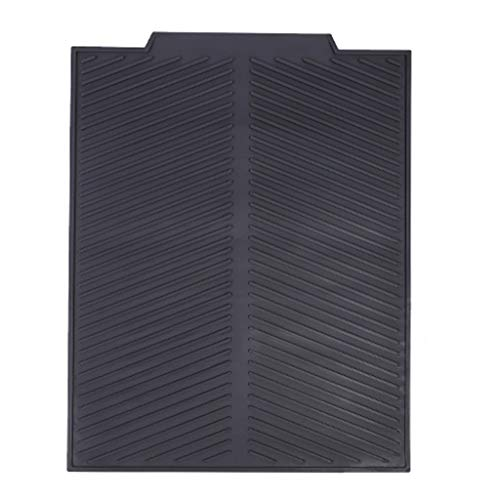 GROOMY Sewage Rack, Silicone Draining Board Mats,Sink Drainer Mat with Dense Drainage Grooves,Non-SL- Light Grey