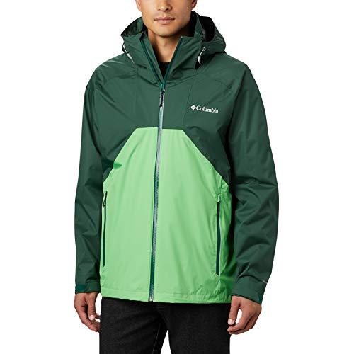 Columbia Rain Scape, Veste Imperméable, Homme, Vert (Rain Forest, Green Boa), XL