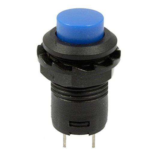 10Pcs Blue Momentary 12mm 125V/3A 250V/1.5A Doorbell Car 12V Push Button Switch