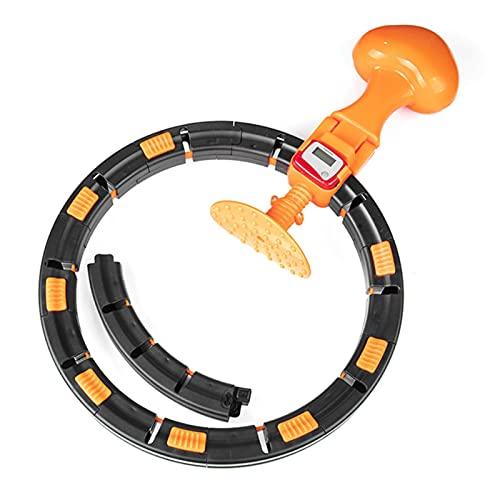 NOERTYB Hula Hoop Cuento para El Hogar Capacitación Deportiva Inteligente Equipo De Fitness Desmontable Ajustable Auto-Spinning Círculo Yoga Thin Cintura