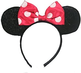 UPD Minnie Mouse Sparkled Ears, with Assorted Red or Pink Bow