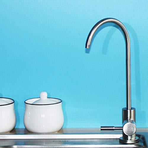 MBYW Grifo de Cocina Grifo para Fregadero de Cocina Diseño Clásico y Profesional Agua Fregadero de acero inoxidable 304 solo cocina fría agua potable pura 2 puntos grifo purificador de agua universal