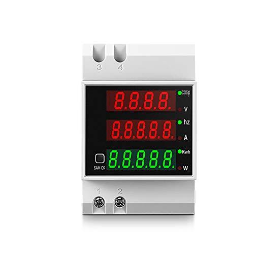 KETOTEK Voltmeter Amperemeter Leistungsmessgerät Digital AC 80-300V 0-100A Spannungsprüfer Strommesser Wattmeter Multimeter Din Rail Leistungsmesser Stromzähler Energiezähler Spannungsmesser
