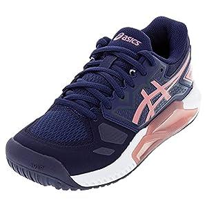 ASICS Women's Gel-Challenger 13 Tennis Shoes, 6.5, Peacoat/Smokey Rose