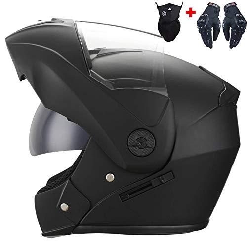 N-B Casco de carreras profesional modular de doble lente casco de motocicleta casco de cara completa