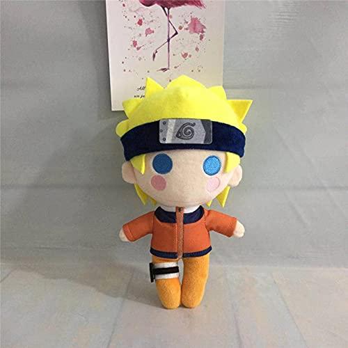 Anime Japanese Ninja Peluche Muñeca Juguete Uzumaki Sasuke Kakashi Lindo suave relleno de almohada Niños 20 cm