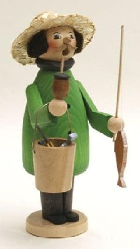 主張する聖書思慮深いFisherman GermanクリスマスIncense Smoker釣りMade inドイツエルツ山地新しい