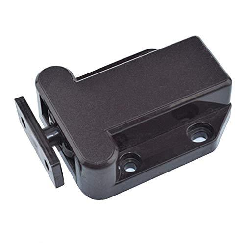 Yener kwaliteitskast vangsten magnetische deur ladekast vangst push to open kevers klink kastdeurdranger 1Pcs, bruin
