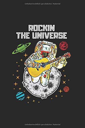 Rocking the Universe   Gitarre Musik Songtexte Notizen: Musikbuch Notizbuch A5 120 Seiten liniert