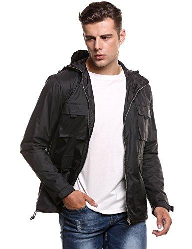 COOFANDY Softshell-Jacke Outdoor-Jacken Herren von Fifty Five - Alert - FIVE-TEX Membrane für Outdoor-Bekleidung