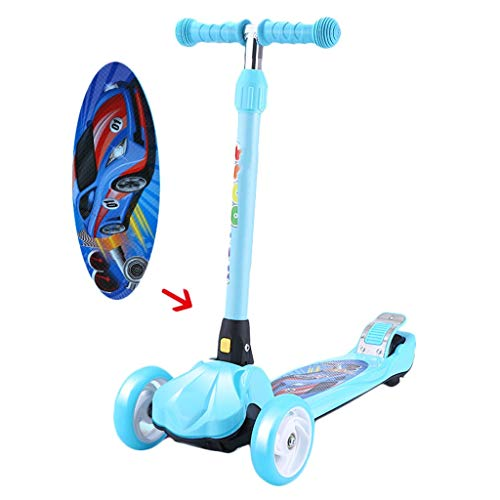 Best Price! Scooter NLIAN- 3 Wheel Kick, 3 Height Adjustable Foldable Free Smooth Riding Lean to Ste...